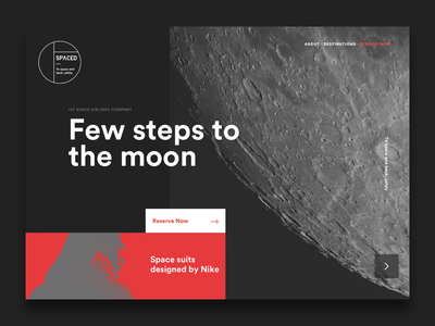 SPACED Part II ux ui travel spacedchallenge spaced space moon logo brand