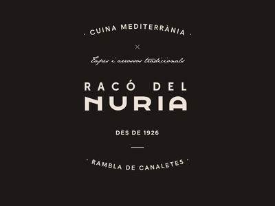 Racó del Nuria - Restaurant Branding