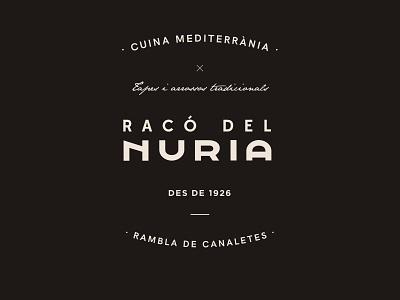 Racó del Nuria - Restaurant Branding mediterranean restaurant logomark idenity logo brand