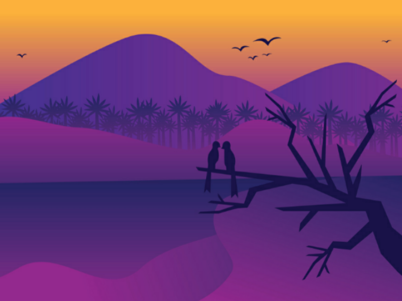Mountain background design flat illustration mountain