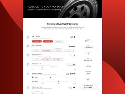 ROI Calculator web development uiux design roi marketing