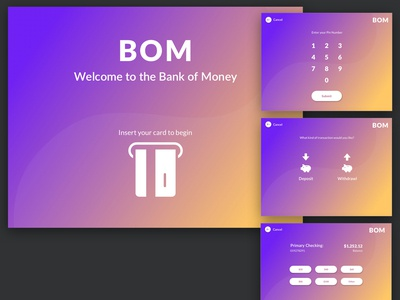 Daily UX #5 - ATM Interface