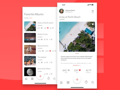 Daily UX #6 - Shared Gallery App