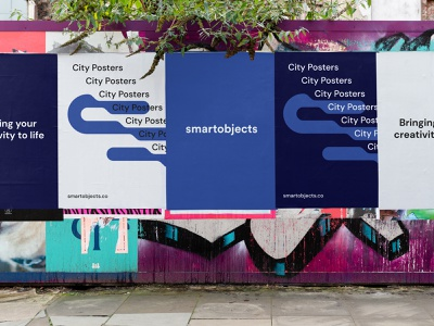 Smart Objects | City Posters 02 Mockup signage mockup logo smart objects signages poster posters billboard psd design template screen signage design signage mockups mockuppsd mockup psd mockup mockups