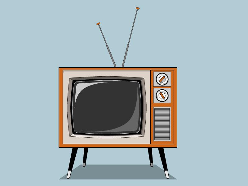 Retro TV illustration television tv illustrator retro vector