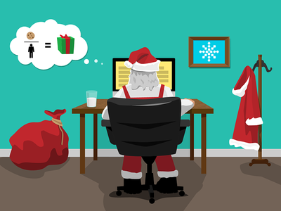 Santa email graphic santa christmas illustration holidays
