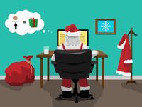 Santa email graphic