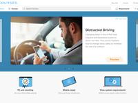 eLearning Site ui website design