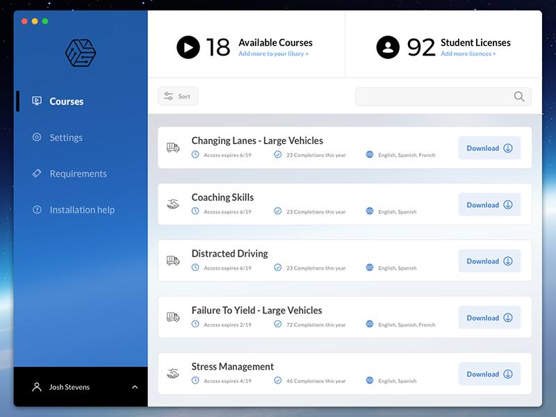 eLearning Installer App Recolor interface ux ui