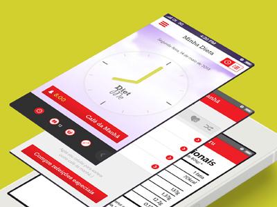 Diet app mobile app