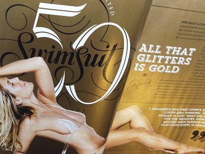 Swimsuit Gatefold sports illustrated swimsuit gold