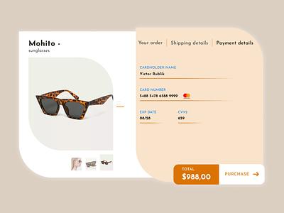 Daily UI 002 Credit Card Checkout typography minimal mobile app landingpage store website web design figma app