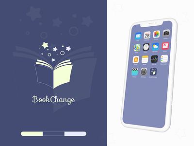 Mobile application icon / BookChange logo app dailyui ux ui website illustrator figma webdesign web bootstrap4 mobileapp mobiledesign ios app design ios