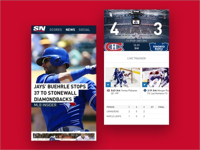 sportsnet.ca mobile app sports app design mobile toronto