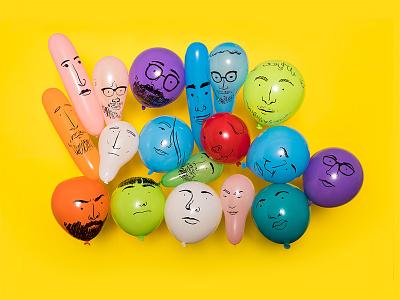 Meet The Team 2018 Edition team illustration yellow balloons photo design tactile