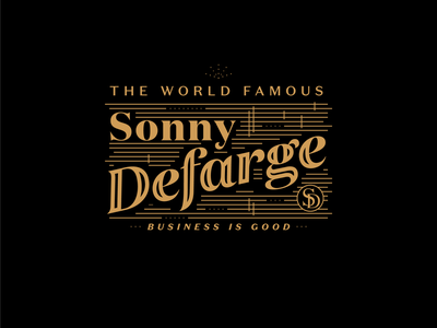 Sonny D tshirt typography merch wrestling