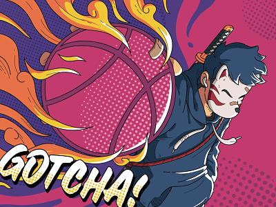Dribbble Debut: GOTCHA! illustration vector design debut doodle japan japanese illustrations