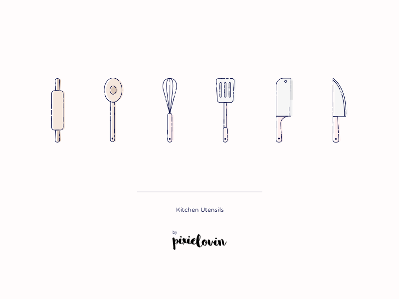More kitchen icons design food cooking recipes utensils knife icon set ui tarful kitchen illustrations icons