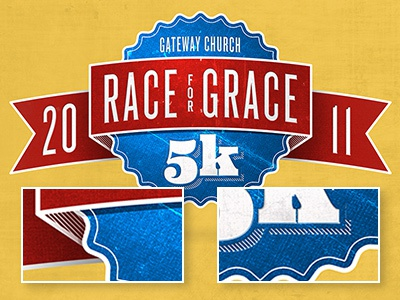 Race For Grace Logo Colored ribbon texture