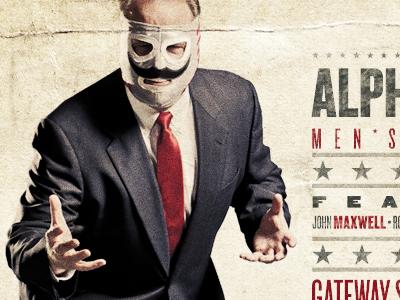 Alpha 2011 Luchador postcard antique luchador wrestler texture photo