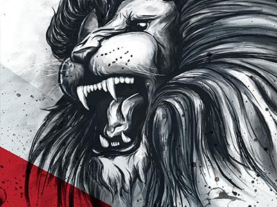 The Alpha Lion illustration photoshop draw