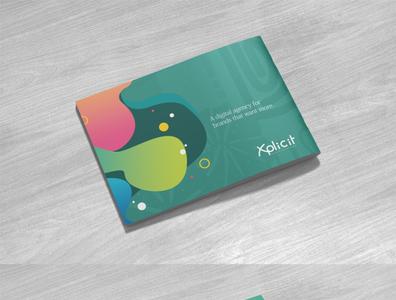 Xplicit Profile design printing print design corporate branding corporate flyer corporate profile design flat design branding profile