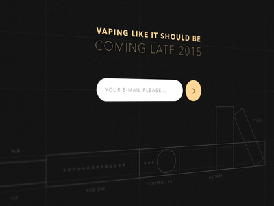 Signup page for high-end vaporizer landing page lp vaping signup