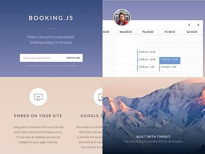 Booking.js LP timekit.io timekit landing page widget appointments booking booking.js