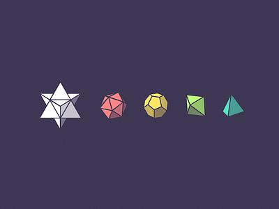 Gems icons geometry minerals gems gem