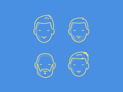Team icons line illustration avatar team timekit