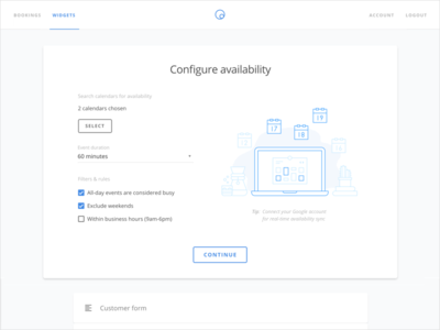 Hour onboarding admin web app scheduling availability booking timekit hour
