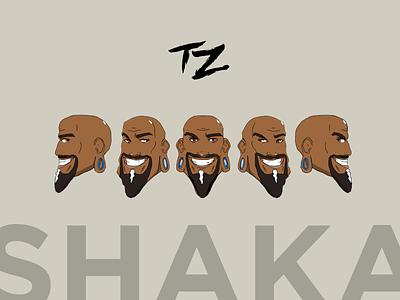 Shaka Rotating Head Positions shaka 2d rotate illustration practice type zero