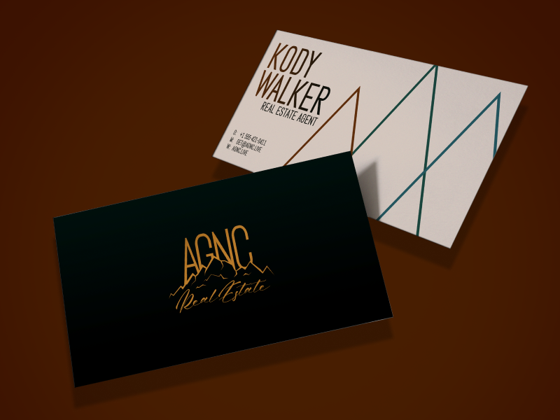 Real Estate Business Card identity branding logo design business cards real estate