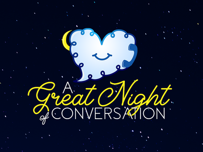 Logo Design for a Dating App for Insomniacs graphic design vector icon cursive moon cloud illustration branding logo design dating app