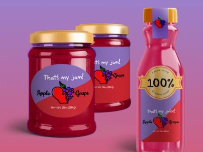 Juice & Jam Shop Package Design