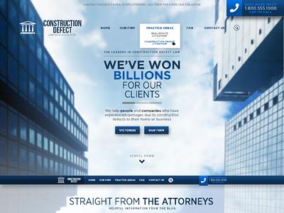Lawyer Web Design homepage website attorney lawyer