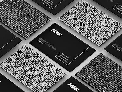 AGNC Business Card Design pattern print identity branding business cards agency