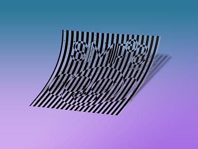 SMfOS Striped Sticker Concept character photoshop sticker design apparel logo sticker