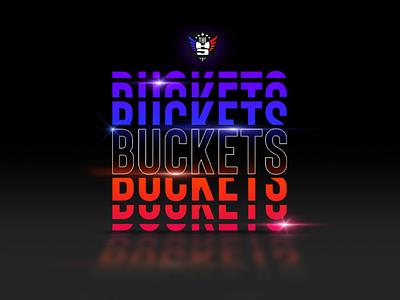 Get Buckets buckets athletic black typography