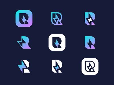 R Logo Exploration monogram letter logomark mark gradient typedesign typeface letter exploration letter r logo branding and identity exploration letter r logo design branding logo