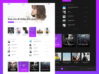 Zing MP3 Redesign Concept - Featured Page web featured concept redesign mp3 zing