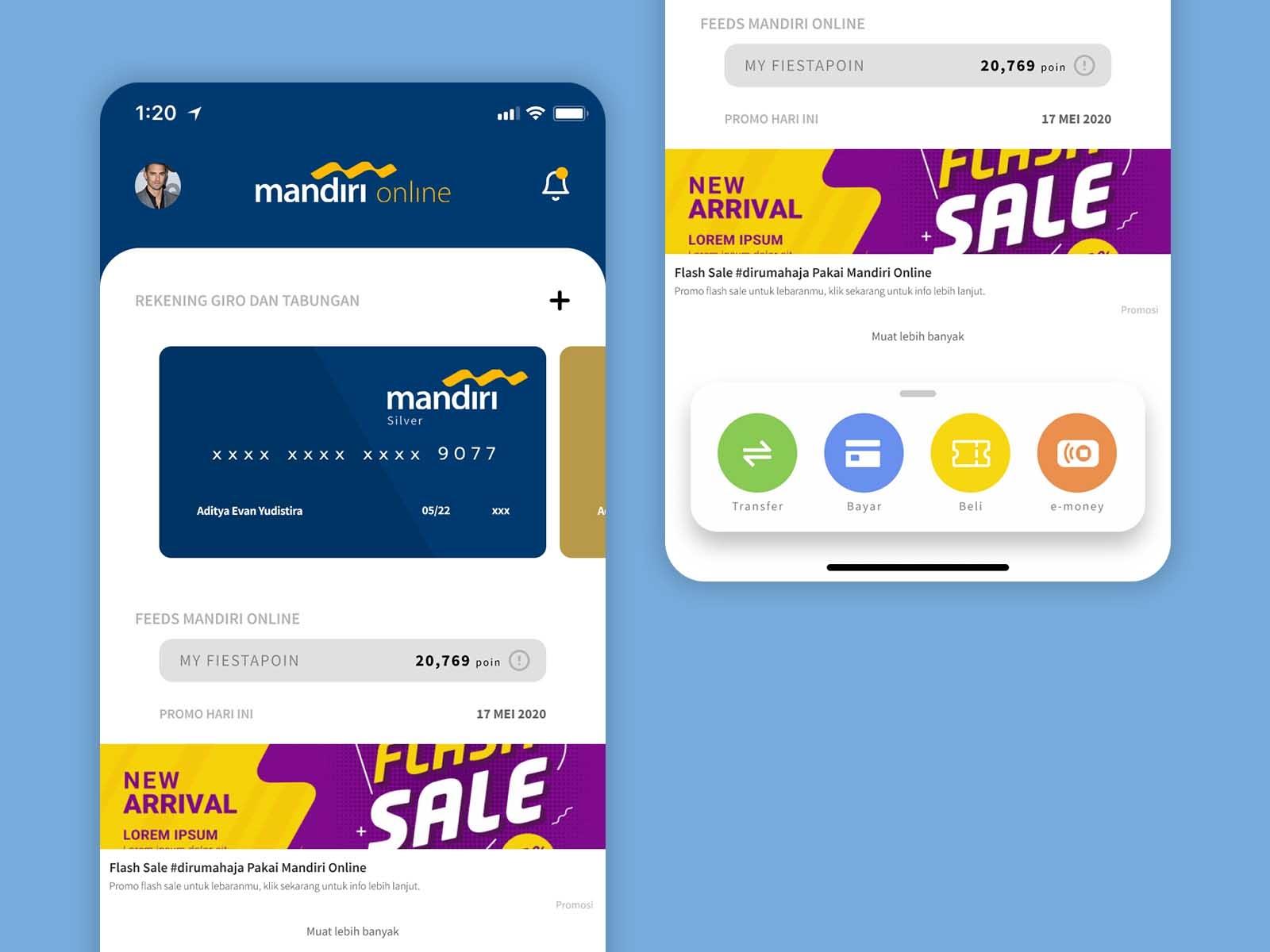 Mandiri Online App Redesign By Evan Yudistira On Dribbble