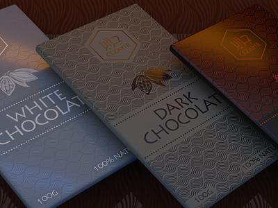 3d packaging boxes for chocolate tablets. logo illustration branding cycles eevee mockup illustrator photoshop brand label design packaging chocolate blender 3d