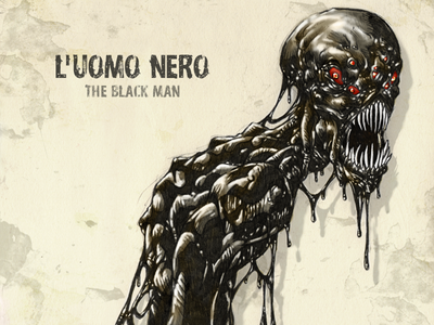 #31DaysofMonsters DAY 12: l'uomo Nero 31daysofmonsters 31daysofhalloween scarymonster scary monster illustration horrormacabre horror halloween boogieman
