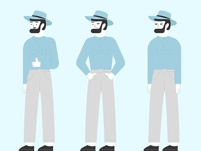 Aussie farmer aussie farmer men illustration flat vector design character