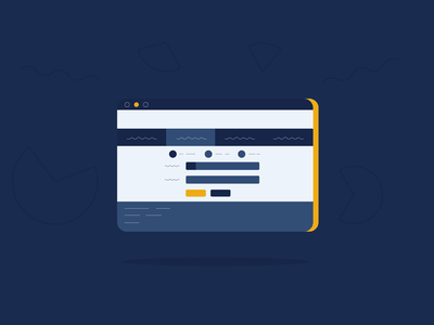Abstract UI concept abstract illustration flat ux design vector ui