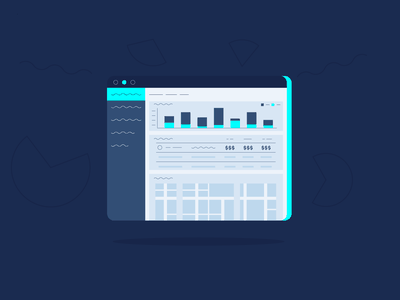 Abstract UI concept abstract branding vector flat illustration design ux ui