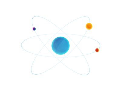 Atom textures vector atom design