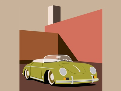 porsche car fashion art flat illustration fashion illustration design illustrator illustration art vector illustration