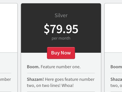 Pricing Cards ui interface design pricing table cards card commerce e-commerce source sans pro